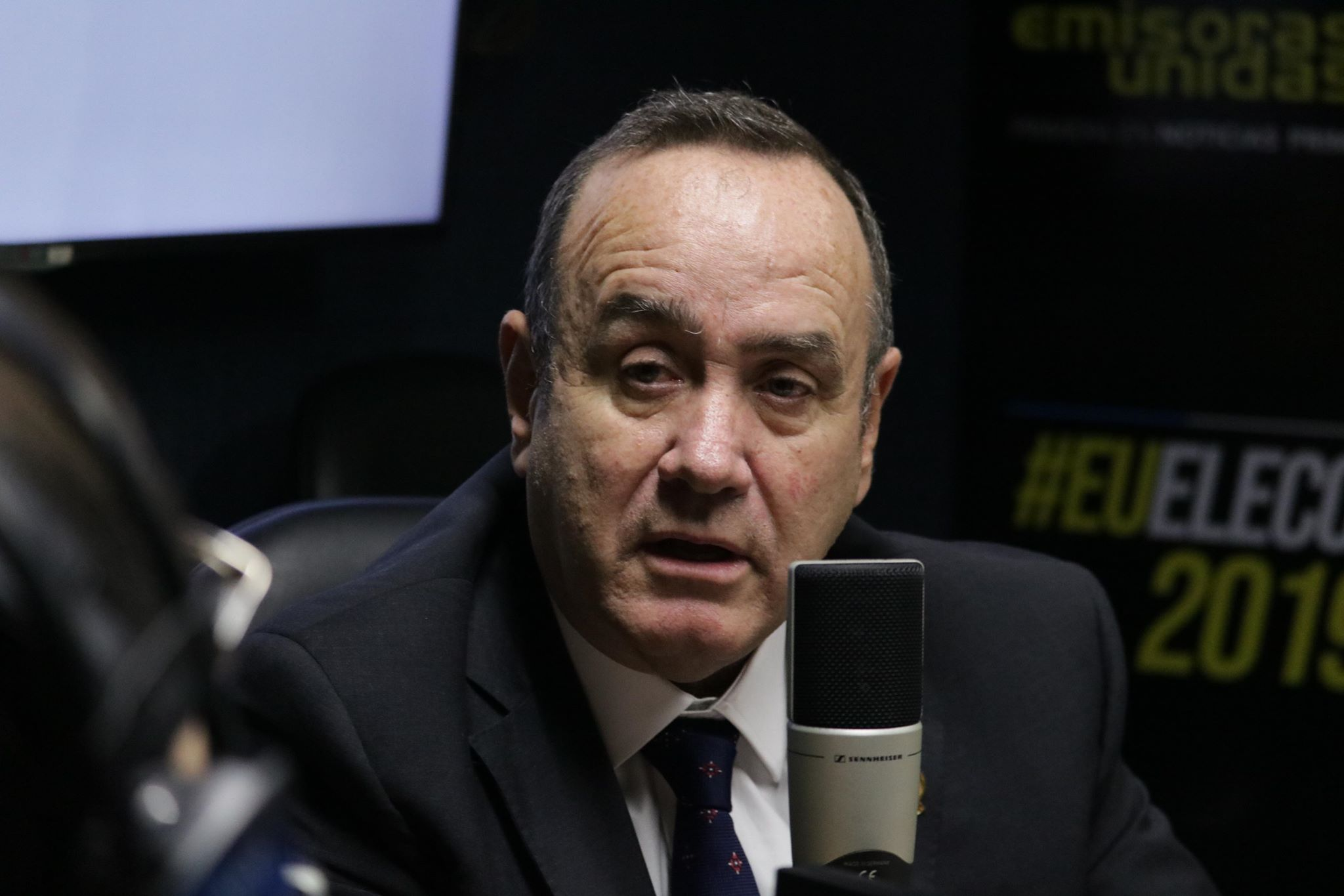 Alejandro Giammattei, candidato a presidente de Vamos. Foto: Alejandro Chet.