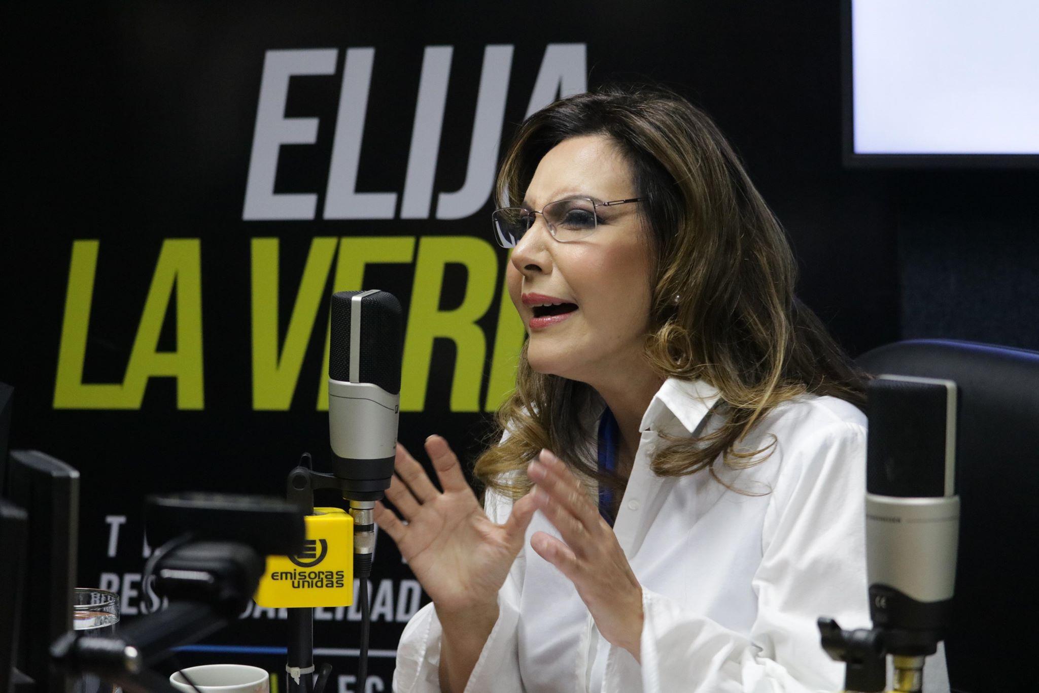 Zury Ríos, candidata de Valor