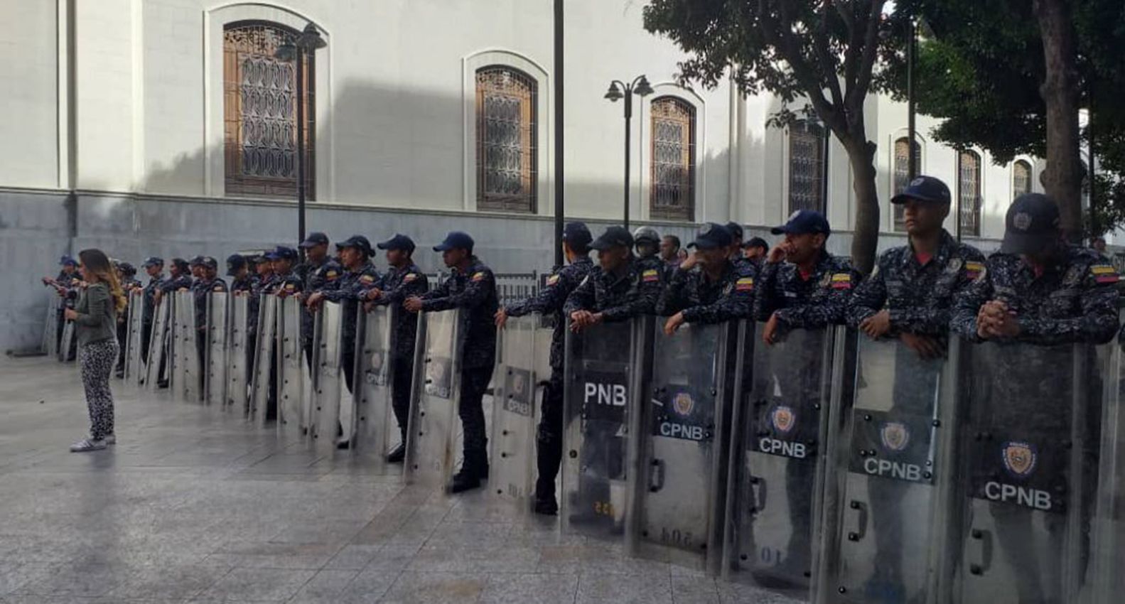 Cierran edificio administrativo de Parlamento venezolano