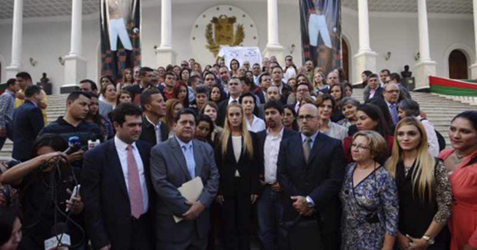 Diputados opositores vuelven al Parlamento venezolano. Foto con fines ilustrativos.