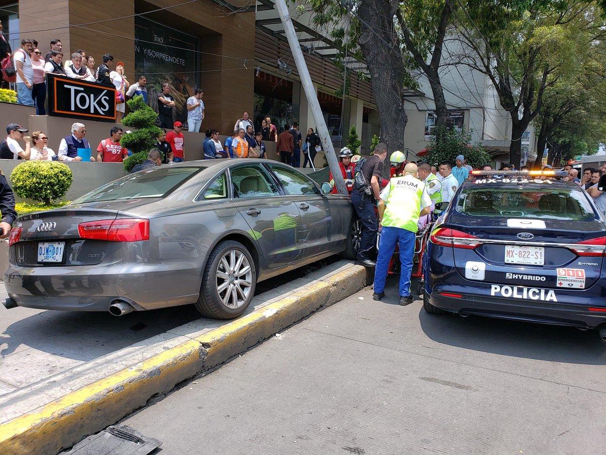 Accidente en ciudad de México.