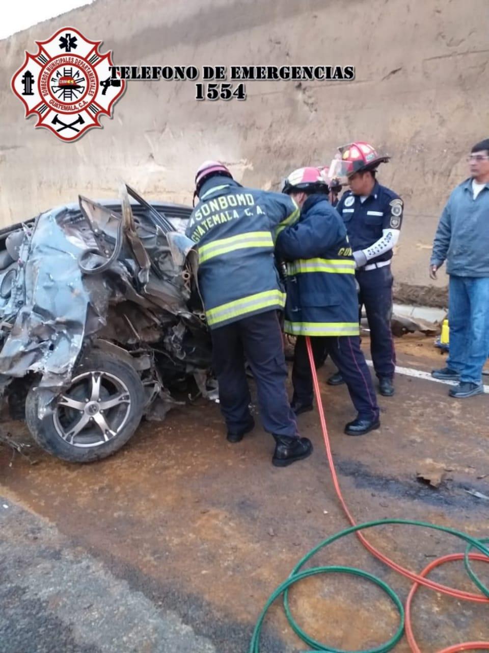 Accidente en el libramiento de Chimaltenango.