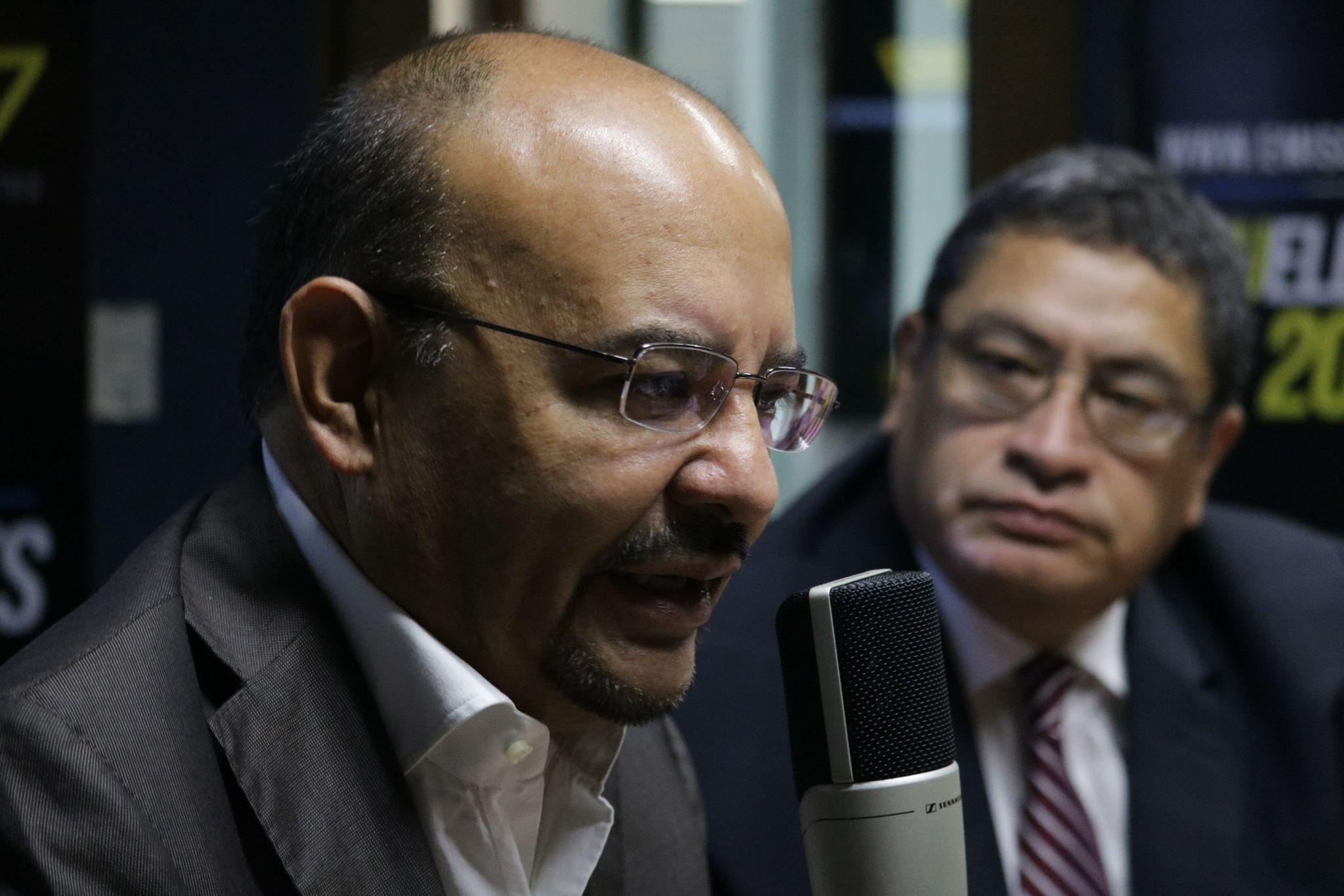 Manfredo Marroquín y Oscar Morales, candidatos a la presidencia y vicepresidencia de EG.