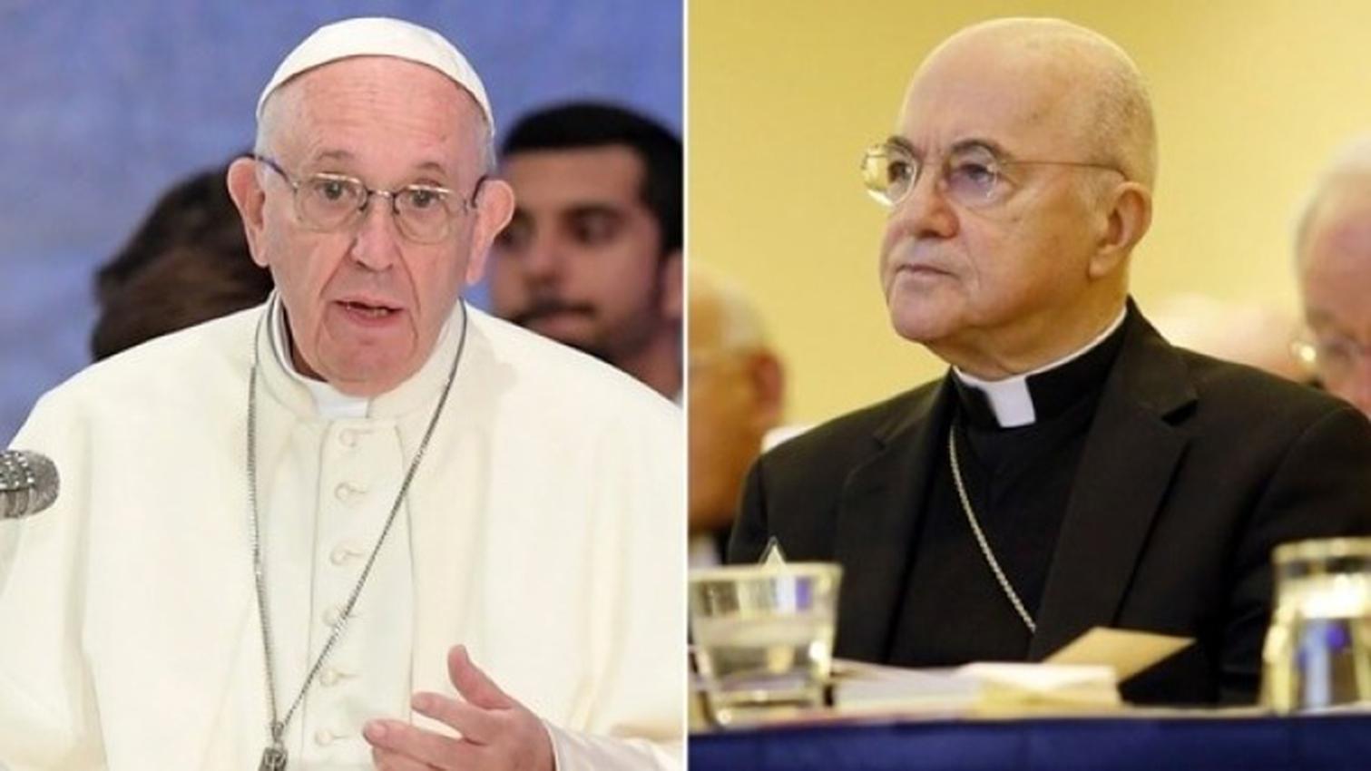 """Exembajador del Vaticano acusa al papa de """"mentir descaradamente"""""""