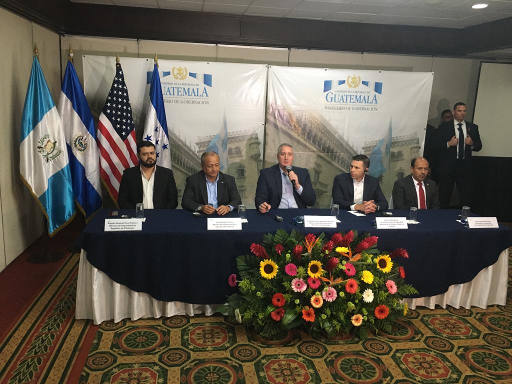 Reunión de ministros de seguridad de Centroamérica con Kevin McAleenan. Foto: Omar Solís.