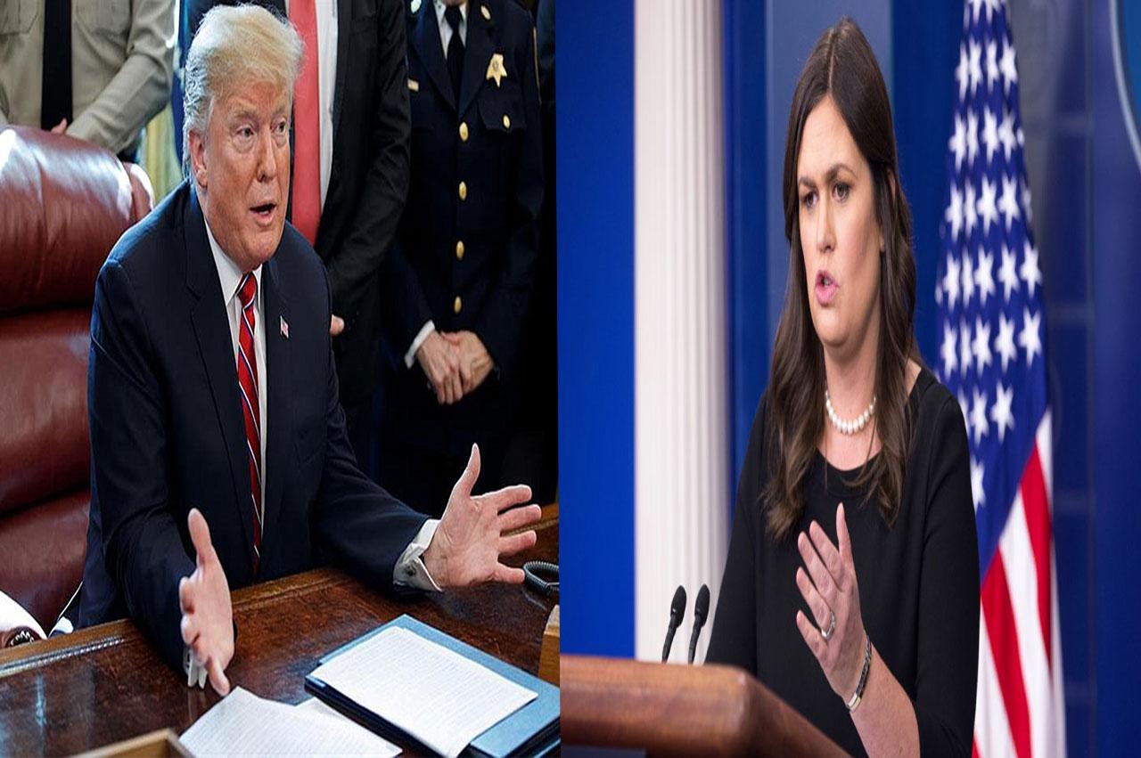 El presidente estadounidense, Donald Trump, anunció que Sarah Sanders deja su cargo como portavoz de la Casa Blanca. Foto con fines ilustrativos