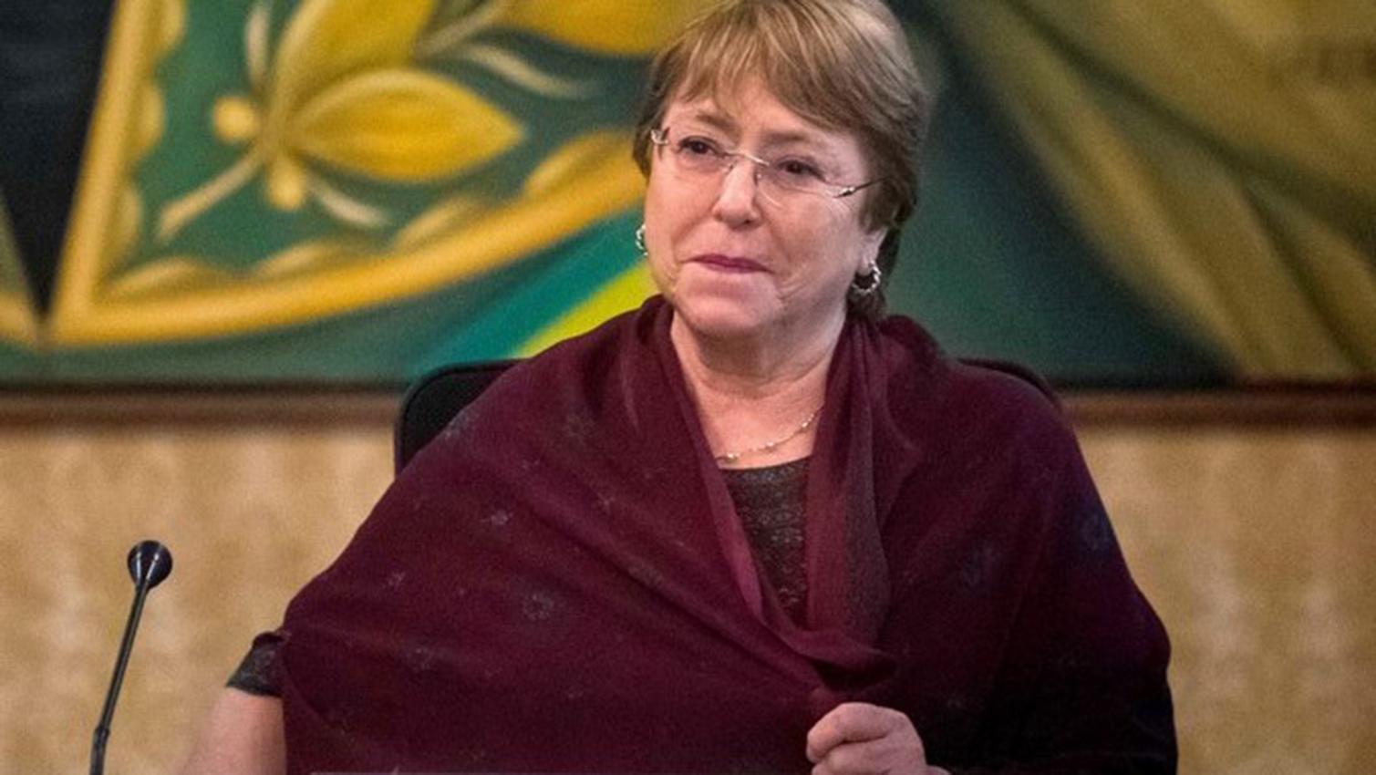 La segunda jornada en Caracas de la expresidenta chilena estuvo ocupada principalmente en reuniones a puerta cerrada