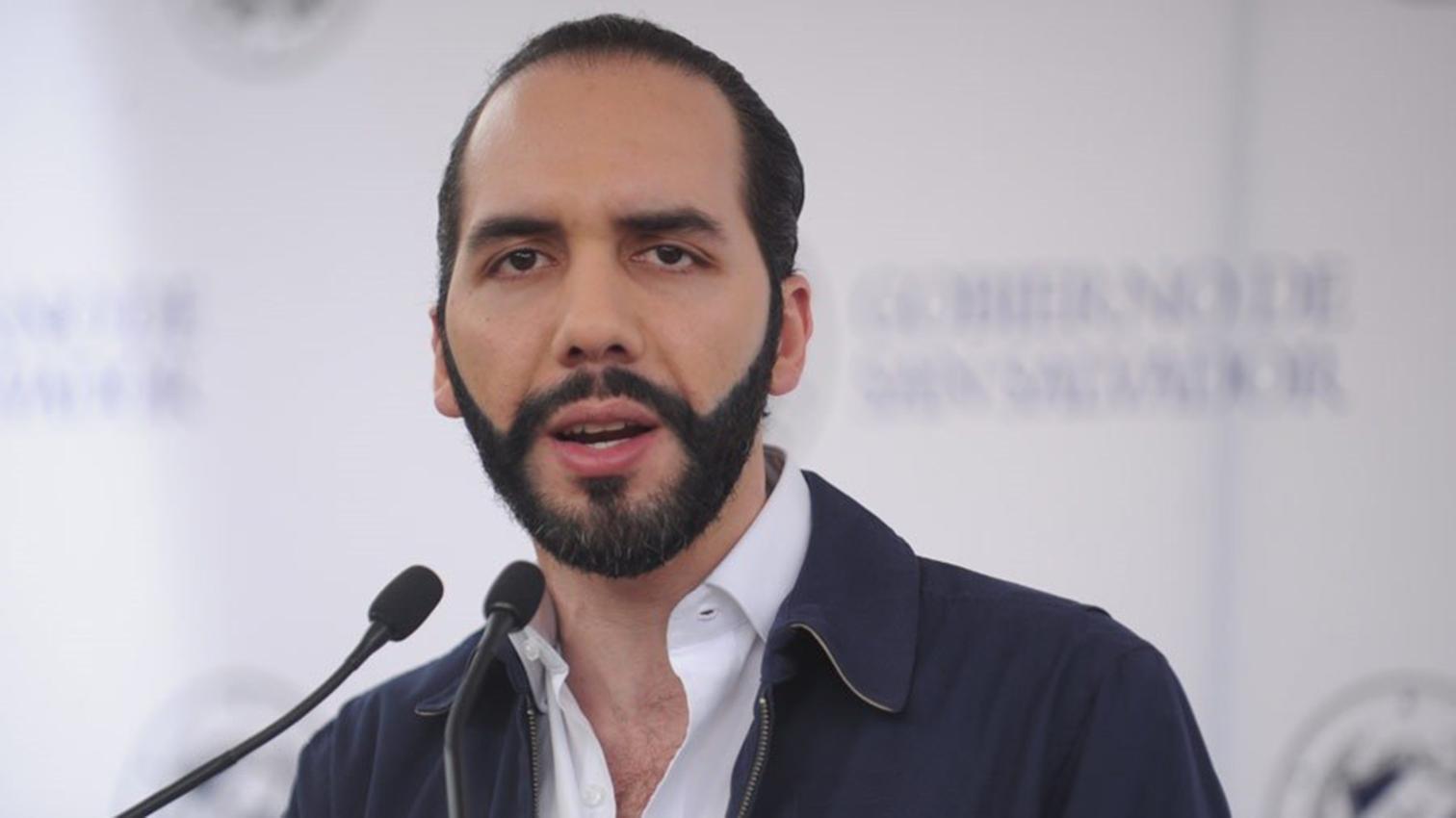El presidente de El Salvador, Nayib Bukele.