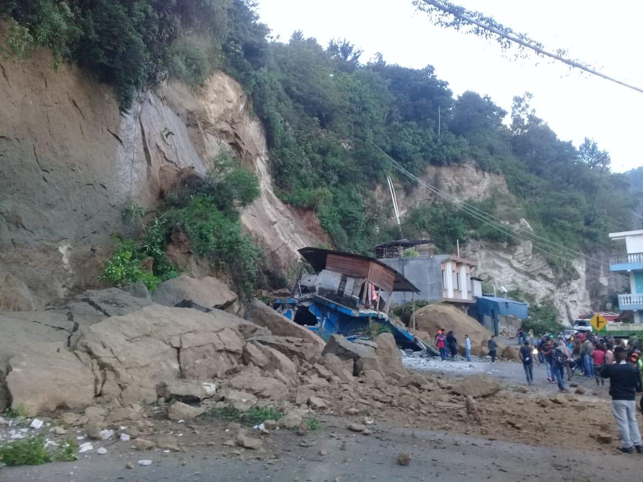 Derrumbe en Colotenango, Huehuetenango.