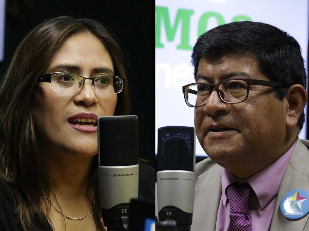 Claudia Valiente y Benito Morales binomio presidencial de Converngencia.