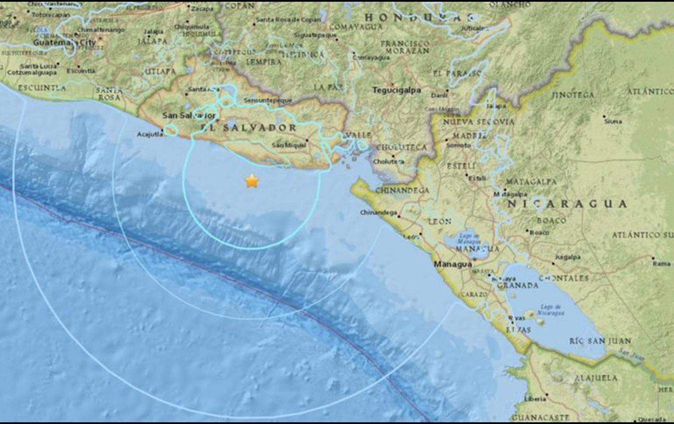 El Salvador registra 14 réplicas tras sismo del martes30 de julio de 2019