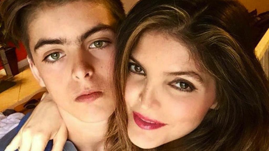 Ana Barbara y su hijo
