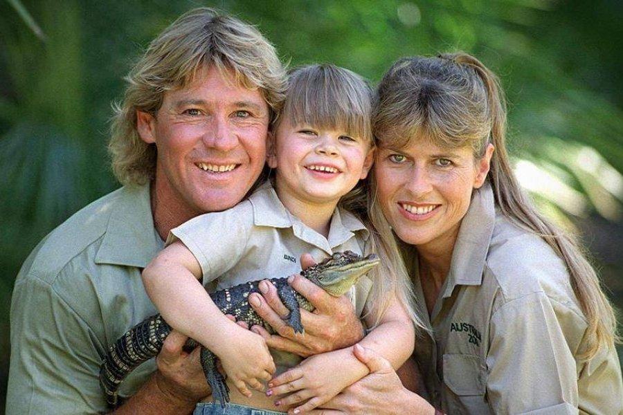 Steve Irwin y su hija