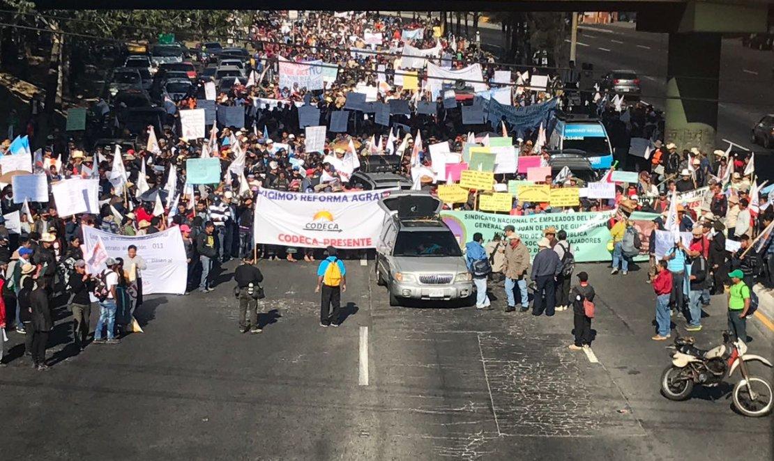 Codeca inicia concentración por protestas
