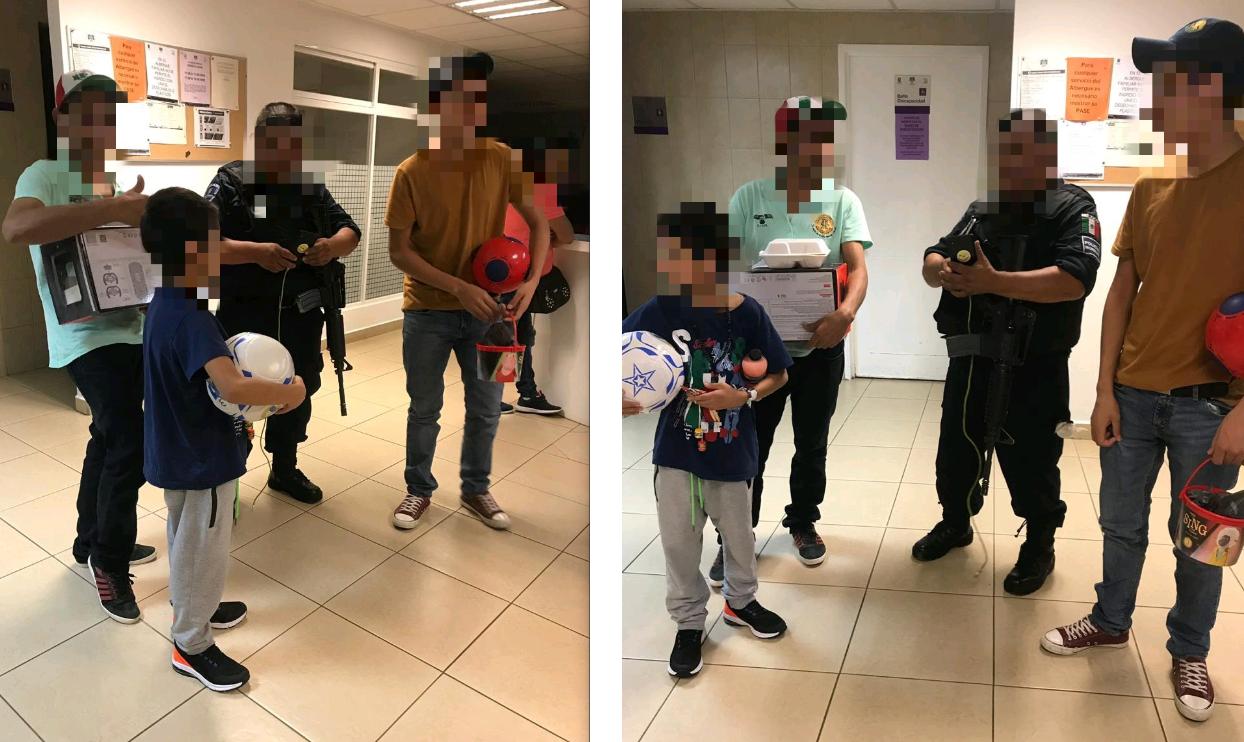 Niño migrante se reencuentra con familiares