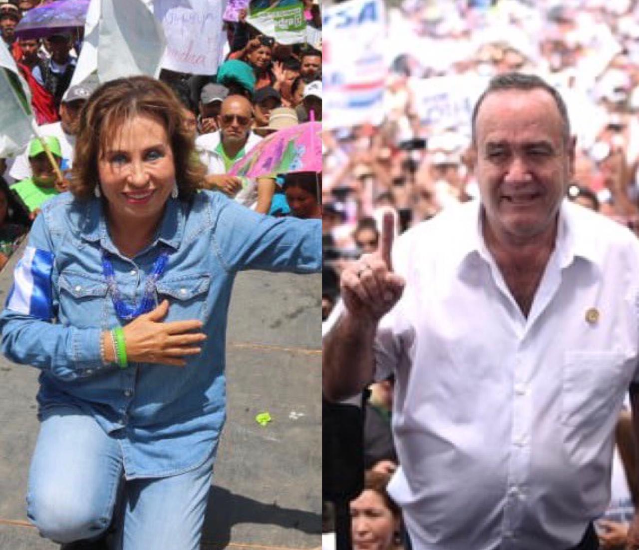 Torres y Giammattei en último fin de semana de campaña