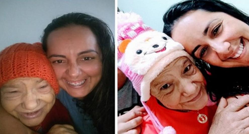 Enfermera adopta a abuelita con cáner por una noble causa