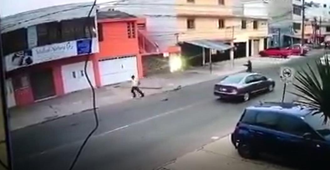 Guardia dispara a hombre acusado de extorsión