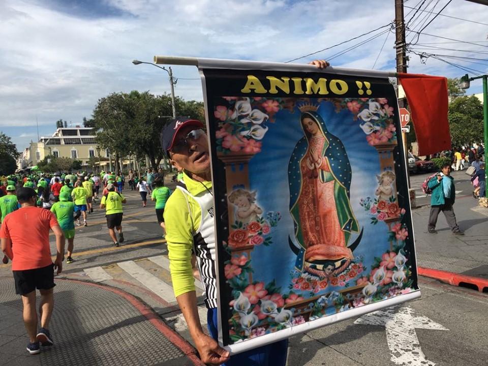 La imagen de la Virgen de Guadalupe