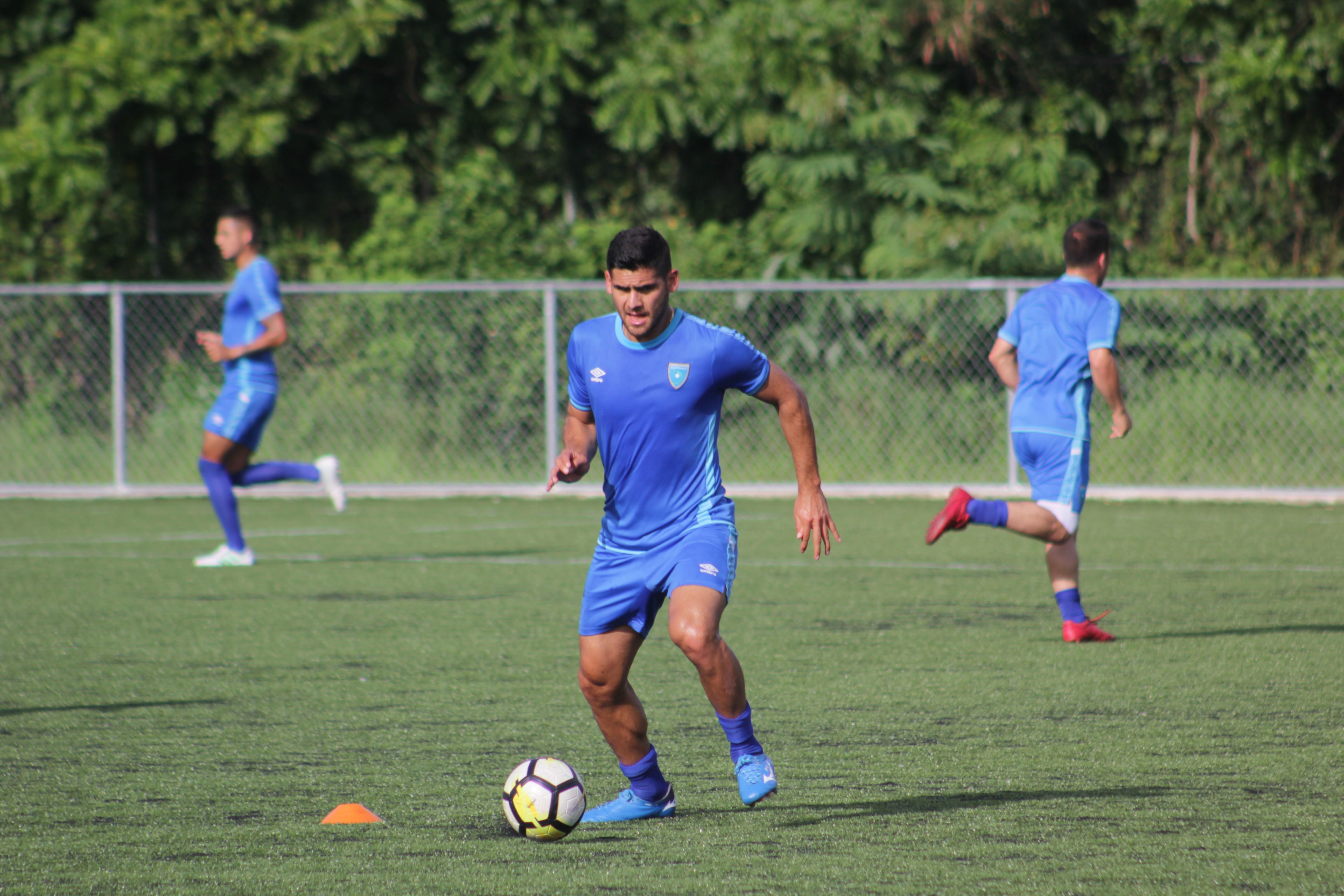 José Carlos Pinto en el entreno