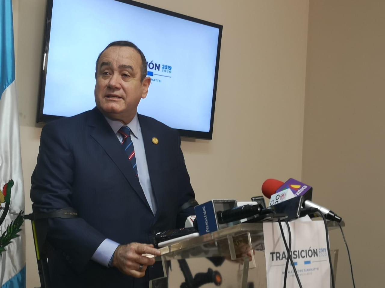 Giammattei crítica amparo provisional de la Corte de Constitucionalidad