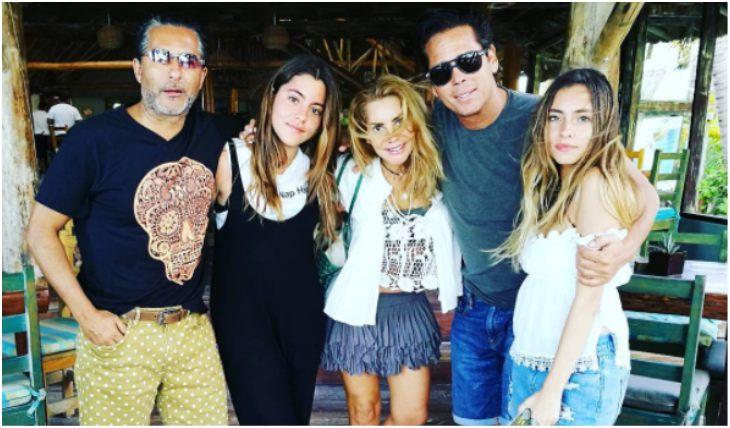 Raúl Araiza y su familia