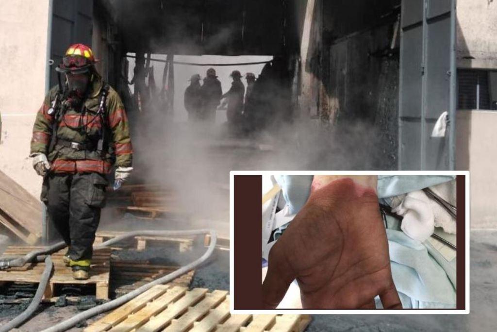 Las marcas de bomberos que arriesgaron su vida en incendio