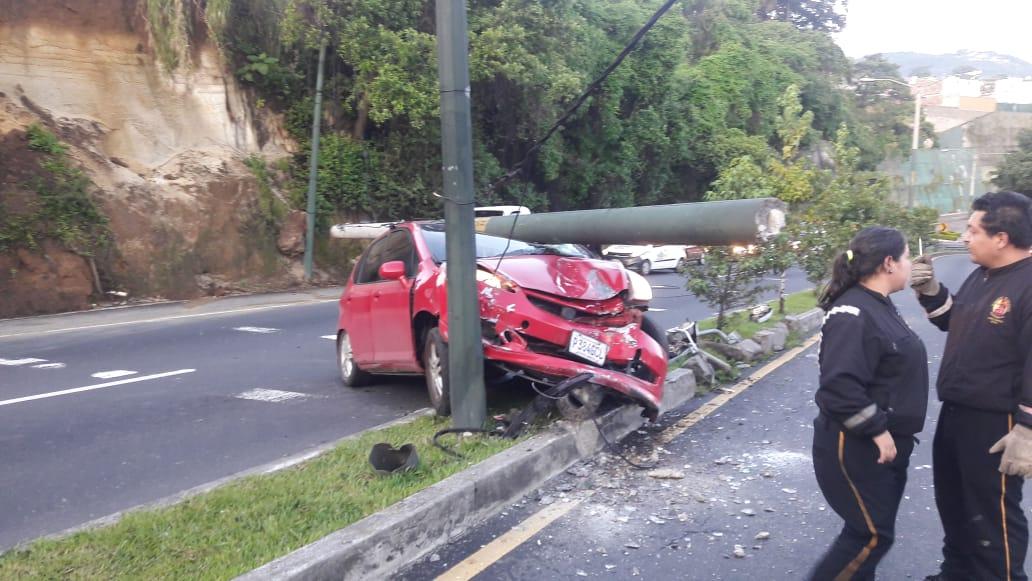 Aparatoso accidente en ruta Interamericana