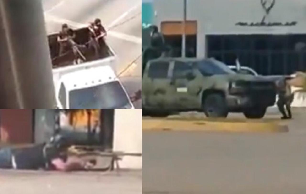 Narcos protagonizan balacera para rescatar al hijo del Chapo