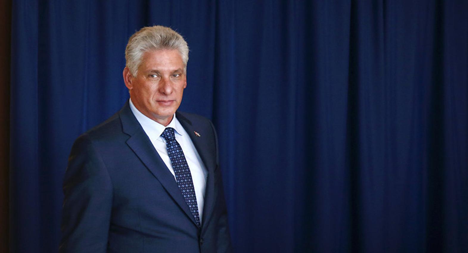 El actual mandatario de Cuba Miguel Díaz-Canel.