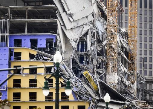 Hotel se desploma en Nueva Orleans