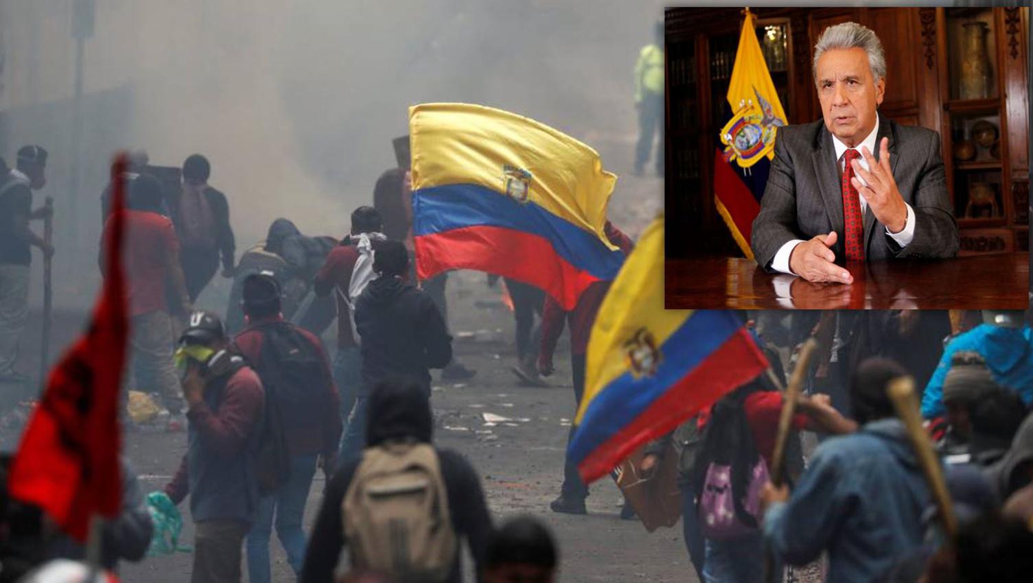 Lenín Moreno propone diálogo directo con manifestantes en Ecuador