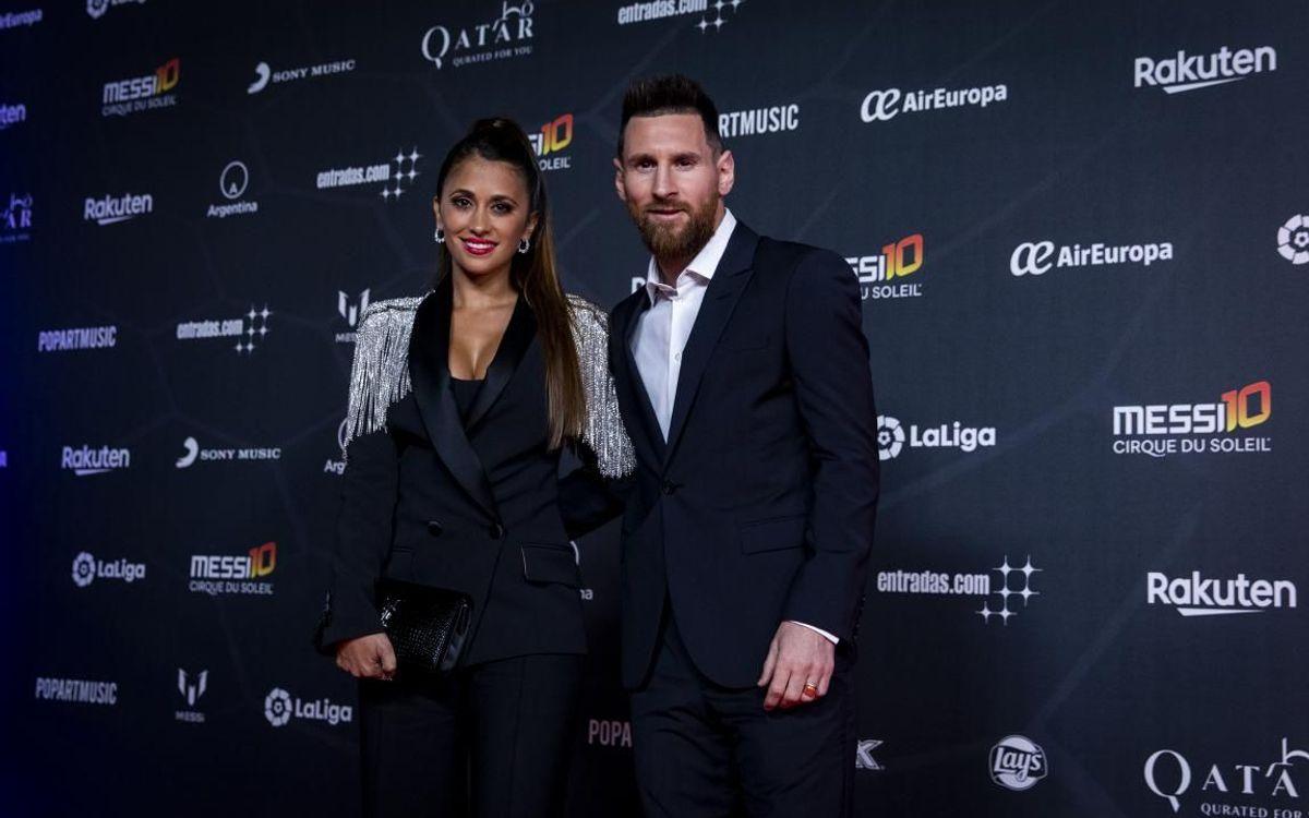 Messi junto a Antonela Roccuzzo