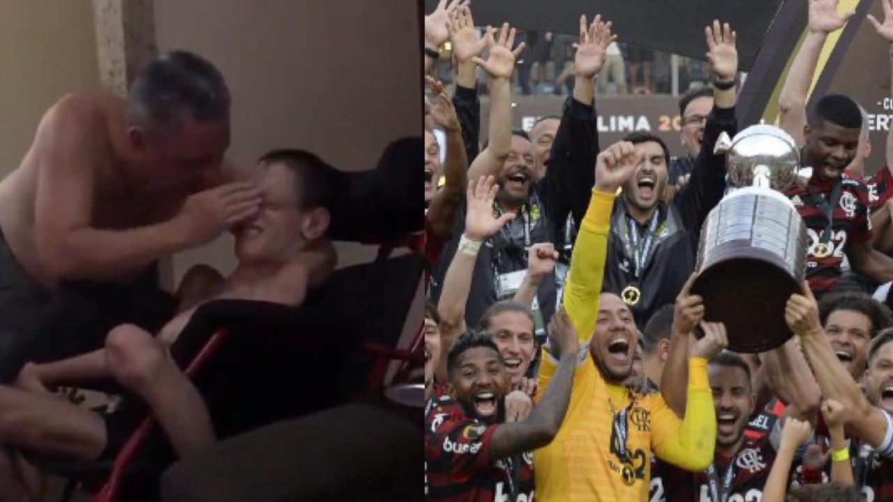 Joven que sufre parálisis festeja triunfo de Flamengo