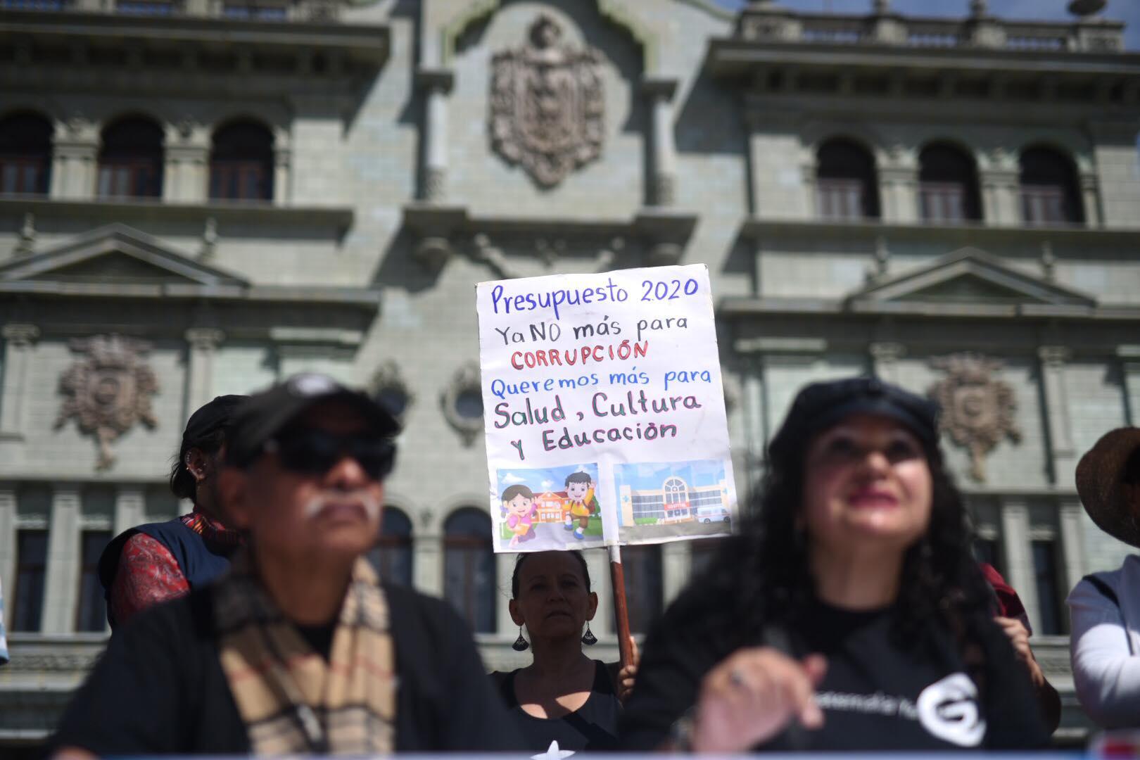 Organizaciones llaman a manifestar contra el presupuesto 2020