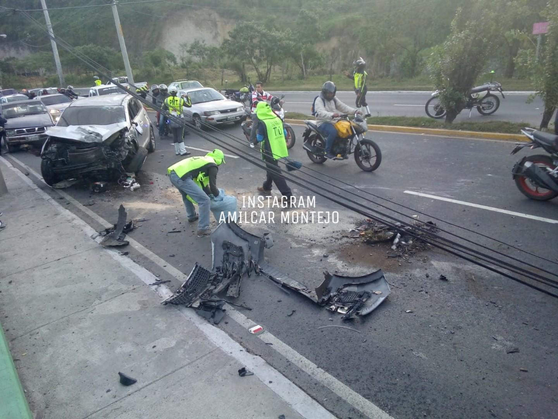 Accidente en calzada La Paz