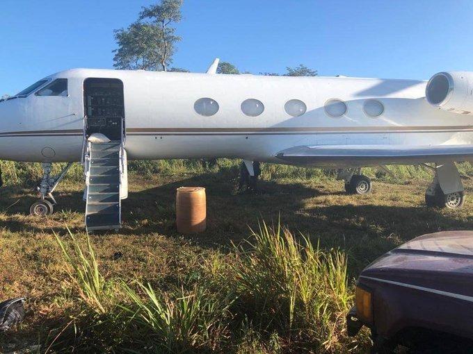 Jet confiscado tras decomiso de droga