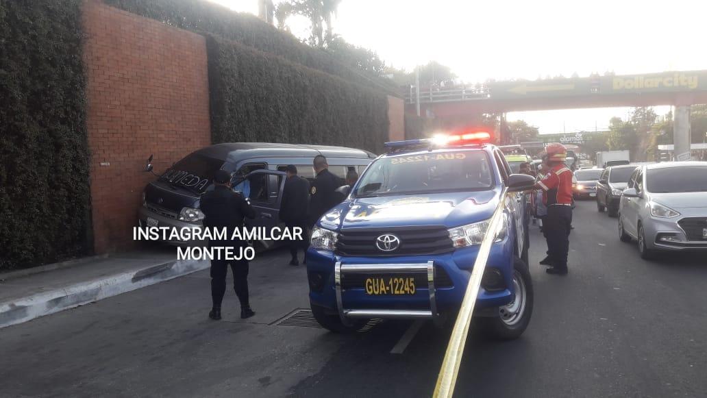 Ataque armado contra microbús cerca del puente Belice