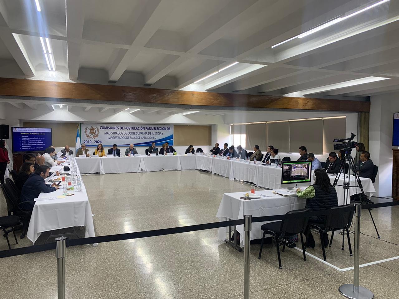 Sexta reunión comisión de postulación a magistrados de la CSJ.