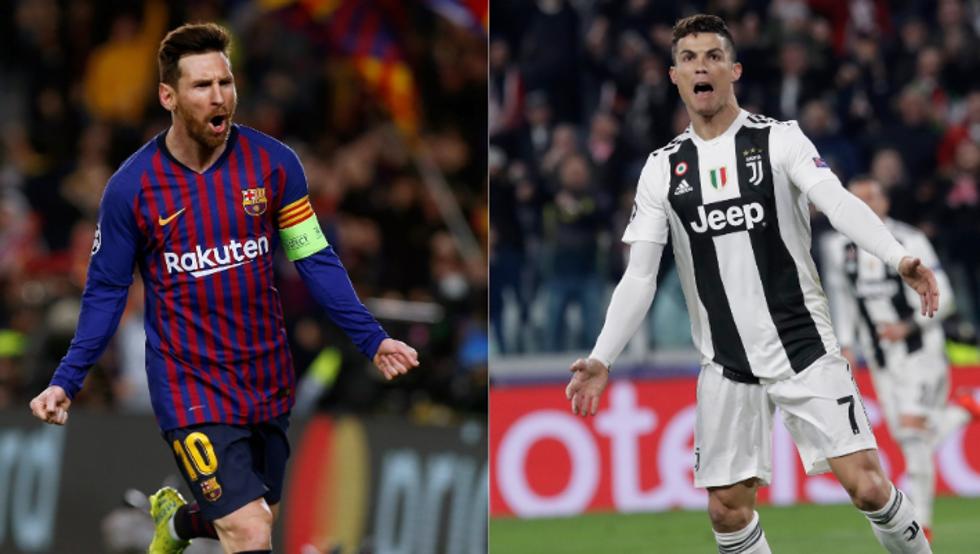 Lionel Messi y Cristiano Ronaldo en Navidad
