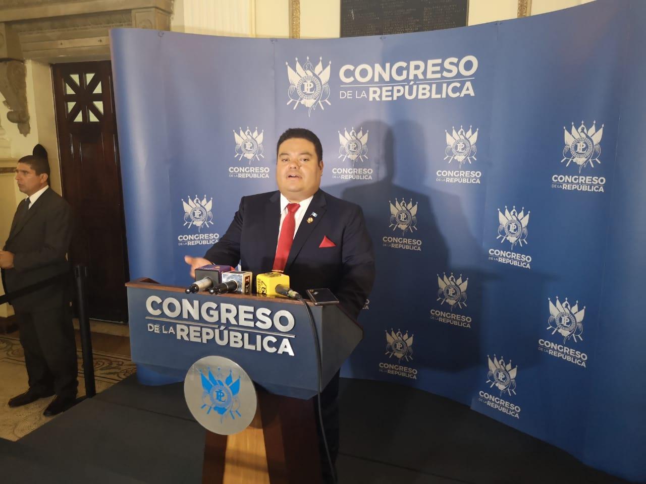 Allan Rodríguez anuncia adutoría en el Congreso