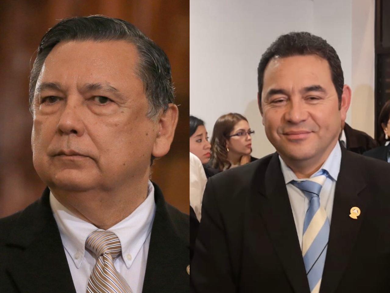 Fuentes Soria niega presiones para juramentar a Morales y Cabrera ante el Parlacen