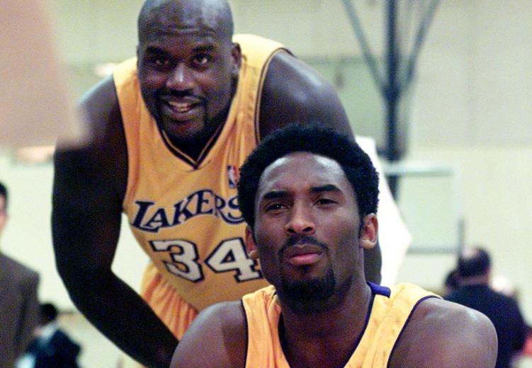 Saquile O'neal y Kobe Bryant