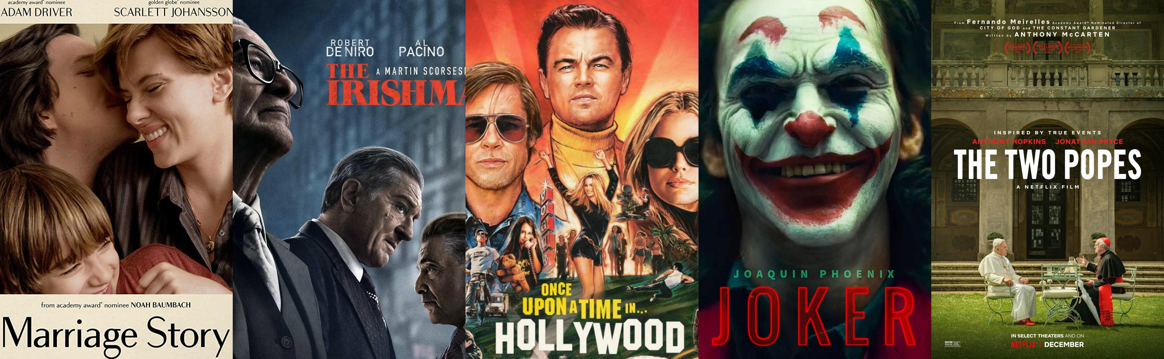 Golden Globes peliculas más nominadas