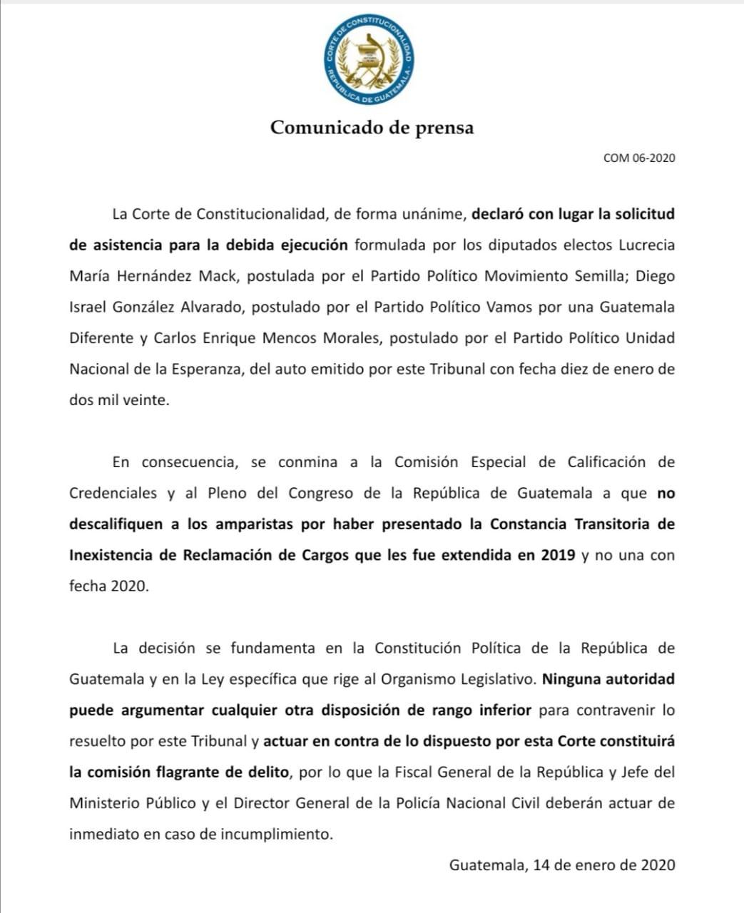 """CC """"conmina"""" al Congreso que acepte finiquitos extendidos en 2019"""