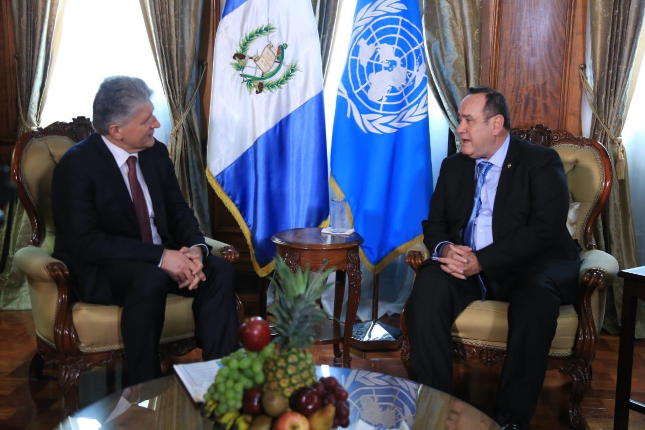 Subsecretario de la ONU se reúne con Giammattei