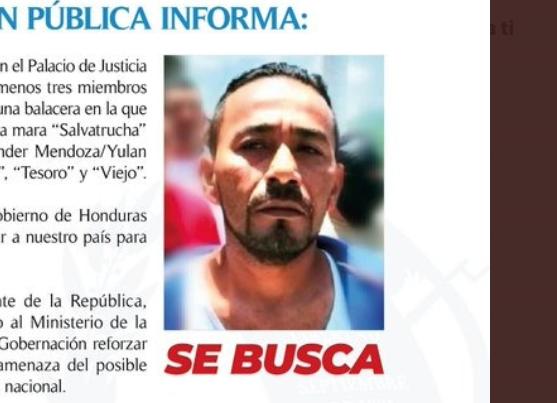 Emiten alerta en Guatemala por pandillero fugado en Honduras