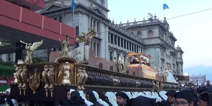 Cuaresma, cortejos procesionales en Ciudad de Guatemala