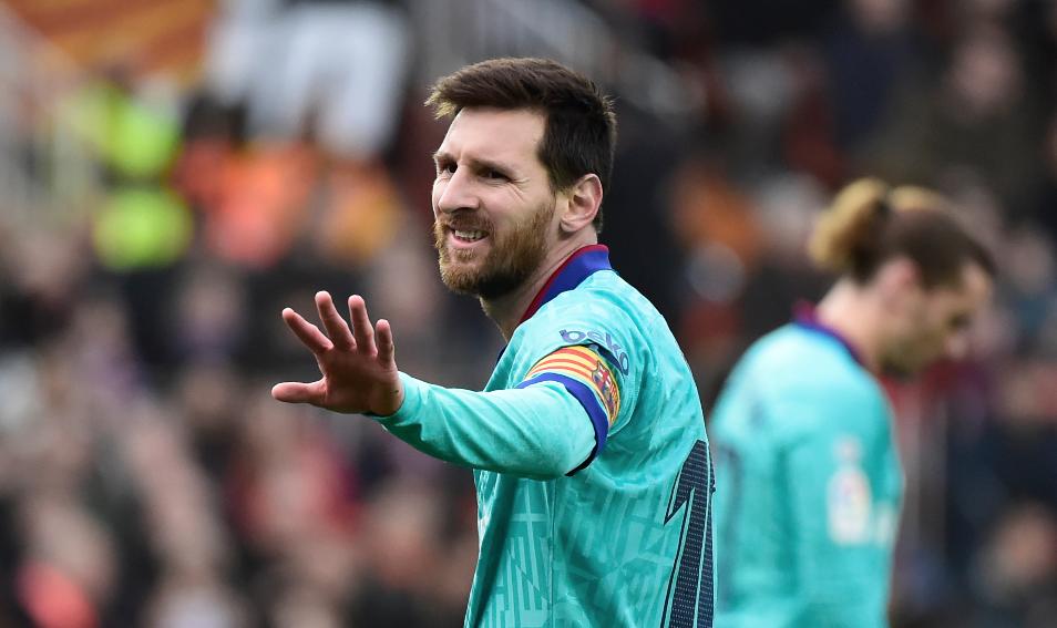 Messi llega al Santiago Bernabéu