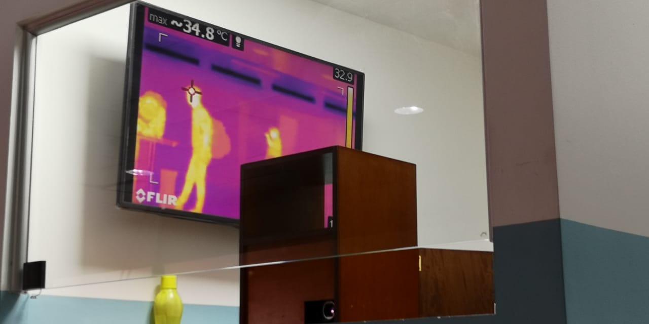 Controles ante el coronavirus en el Aeropuerto Internacional La Aurora